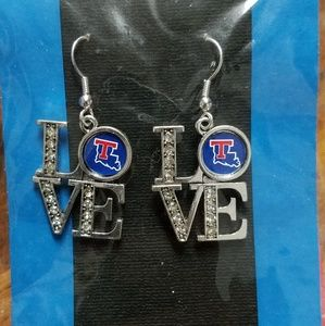 New Love La Louisiana Tech University Earrings
